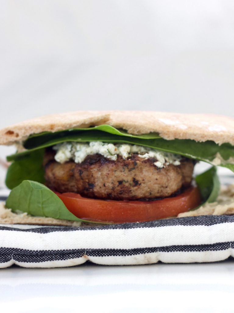 Turkey Burgers with Herbed Feta