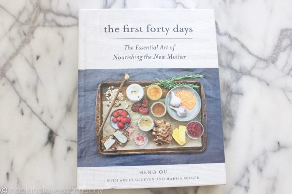 Photo of a cookbook on a marble counter