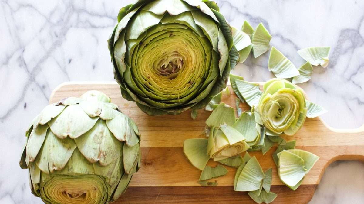 Grilled Artichokes with Butter and Lemon